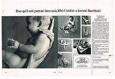 Publicité Advertising 1970 (2 pages) Puériculture les sièges Bébé-Confort