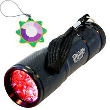 HQRP Red Light LED Black Flashlight for Astronomy & Aviation & Night Vision