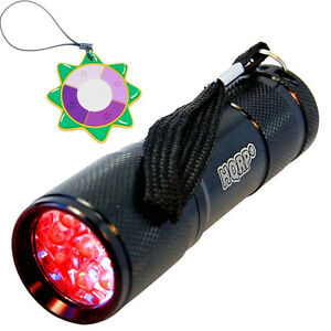 HQRP Red Light LED Black Flashlight for Astronomy & Aviation & Night Vision