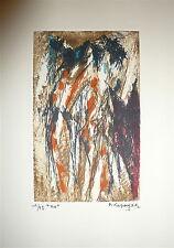 LAPOUJADE Robert gravure originale signée art abstrait abstraction