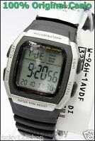 W-96H-1A Black Genuine Casio Watch Men's Digital Alarm Chronograph 50M Resin