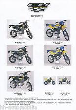0001HQ Husqvarna Preisliste 2003 D CH 509 507 CR 125 SM 450 R WSM 50 WXE Sparta