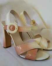 Prada Ombre Patent Leather High Heels Sandals Shoes 8