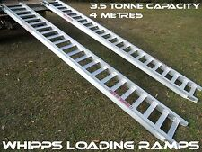3.5 Tonne Machinery Loading Ramps 4 metres long x 400mm track Width