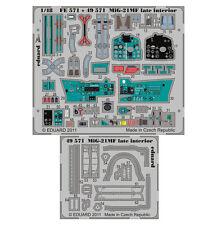 EDUARD 1/48 PE PHOTO-ETCHED INTERIOR DETAIL SET for EDUARD MIG-21MF LATE