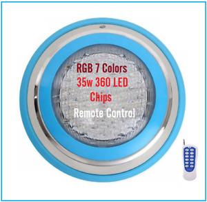 Blue Deco Circle 360pcs 35w LED Resin Filled Pool Light Super Bright 7 RGB Color