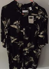COVINGTON MEN'S CASUAL BLACK WITH PRINT SHIRT / SIZE LARGE 42-44