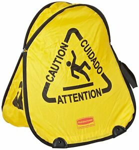 RUBBERMAID POP-UP SAFETY / WET FLOOR CONE MULTI-LINGUAL FG9S0700YEL