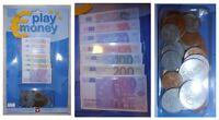 Euro finti per giocare fiche fiches soldi: monete e 105 banconote cm 8,5 x 4,5