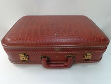 VINTAGE SUITCASE ALLIGATOR / CROCODILE PRINT OLYMPIC LUGGAGE CORP.