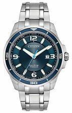 BRAND NEW CITIZEN ECO-DRIVE WATCH SUPER TITANIUM BLUE BEZEL BLUE DIAL BM6929-56L