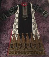 Stunning Sana Safinaz Embellished Shirt & Chiffon Dupatta medium size 12 -14