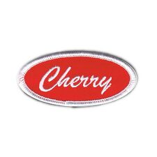 Name Tag Cherry Novelty Embroidered Iron On Badge Applique Patch FD
