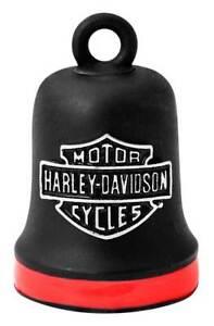 Harley-Davidson Bar & Shield Red Stripe Ride Bell - Black Finish HRB101