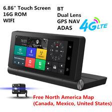 "4G Car DVR GPS Navigator Camera 6.84"" Android5.0 Cam Bluetooth HD 1080P Video"