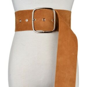 Lady Flannelette Wide Belt Corset Waistband Retro Coat Dress Shirt Velvet Decor