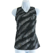 Top Leos Dancewear Black Stars Child Medium Sleeveless Gymnastics Dance Cheer