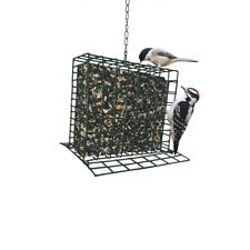 Green Metal Suet Wild Bird Feeder Outdoor Garden Food Hanging Seed Cage Basket