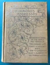 VINTAGE DRUMMOND'S ADDRESSES 1891