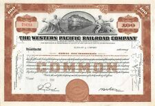 The WESTERN Pacific Railroad Compagny Certificate 100 shares 1952 (14759)