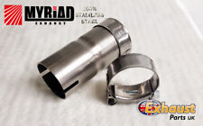 Exhaust Reducer - Sleeve Joiner Stainless Steel T Clamps - Repair Tube Section