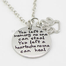 Necklace Weimaraner Rescue Charity You Left A Memory Pendant