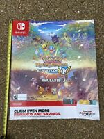"Pokemon Mystery Dungeon Rescue Team DX Gamestop Promo Release Date Poster 28""X24"