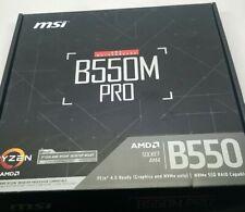 MSI B550M PRO ProSeries Motherboard (Support 3rd Gen AMD Ryzen, AM4, DDR4, PCIe