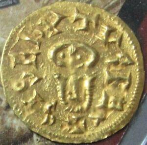 612- 621 AD GOLD SPAIN VISIGOTHS KINGS SISEBUT TREMISSIS EMERITA MINT