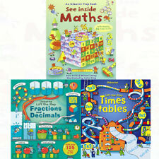 Lift the Flap Times Tables Rosie Dickins 3 Books Collection Set Maths Alex Frith