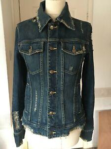 Fitted denim jacket M Sergio Valente zip collar designer