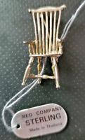 Sterling Silver Chair Pin/Brooch