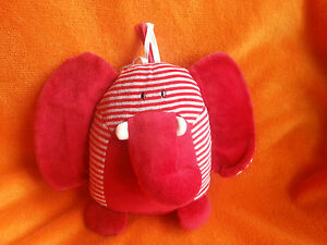 """Little Jellycat Red Elephant Baby Comforter Soft Toy J1573 8.5"""" Rattle Crinkly"""