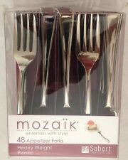 Flatware New Mozaik 4 Heavy Weight Appetizer Forks Lot Of 48