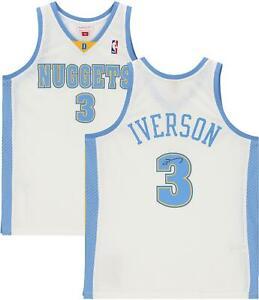 Allen Iverson Denver Nuggets Signed White 2006-07 M&N Swingman Jersey