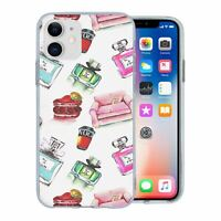 For Apple iPhone 11 Silicone Case Perfume Chic Pattern - S1241