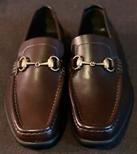 New In Box GUCCI Horsebit Driving Shoes Loafers sz 7.5 Made in Italy Very Rare