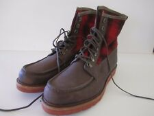 Wolverine 1883 Stormy Kromer Buffalo Check USA Made Peninsula Boots Men 12 NWOT