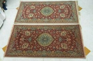 Vintage  Made In Poland Rugs Carpets Pair
