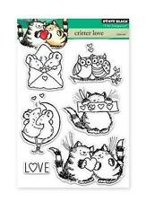New Penny Black RUBBER STAMP clear CRITTER LOVE ANIMALS  set free us ship