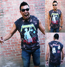 Metallica Bleached Distressed shirt or tank top S-XL  Justice for all