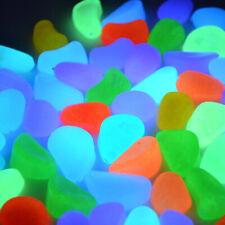 100pcs Colorful Glow in The Dark Stones Pebbles Rock For Fish Tank Aquarium
