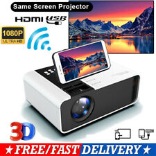 8000 Lumens Led Smart Projector 4K Video Hd 1080P Home Theater Hdmi Usb Vga Av