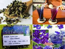 Dried butterfly pea flowers natural Thai herb blue tea good for healthy 50g