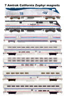 Amtrak California Zephyr 7 magnets by Andy Fletcher