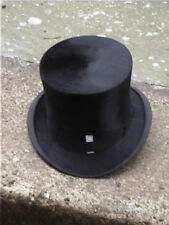 Large Antique Christys Imperial London Black Silk Top Hat Sz 7 ¼..
