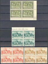 ESPAÑA 1930 - EDIFIL 547/49 Y 557**- 4 BLOQUE DE 4 - DESCUBRIMIENTO DE AMÉRICA