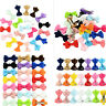 20Pcs Hair Bows Band Boutique Alligator Clip Grosgrain Ribbon Girl Baby Kids KW