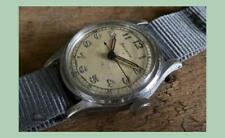 VINTAGE OROLOGIO MILITARE HELVETIA 17 Jewels Swiss serviti & temporizzata CAL 800C 1944
