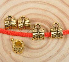 30pcs Tibetan silver  Antique Gold beads bail jewelry Connectors Bails pendant